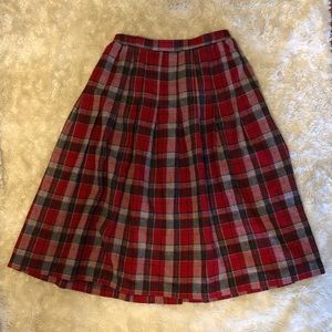 Vintage Plaid Schoolgirl Skirt